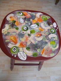 Stuhmalerei, Bemalte möbel, Suppe, Bemalte stühle