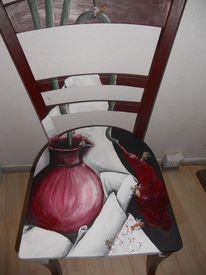 Stuhlkunst, Freche kunst, Acrylmalerei, Design