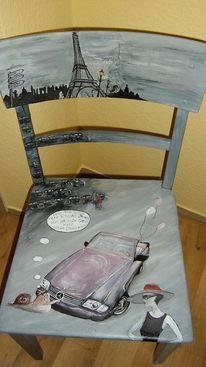 Inspiration, Mercedes, Alte stühle, Acrylmalrei