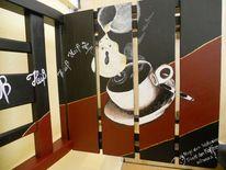 Acrylmalerei, Stühle bemalt, Stuhlkunst, Bemalte möbel
