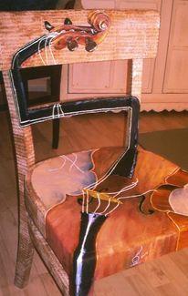 Acrylmalerei, Stühle bemalt, Bemalte stühle, Reichiklein