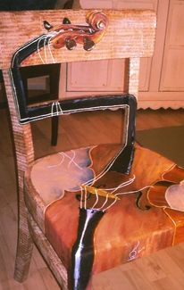 Reichiklein, Stühle bemalt, Bemalte stühle, Kunst am möbel