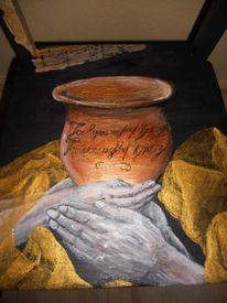 Möbelmalerei acryl, Acrylmalerei, Stuhmalerei, Tristan und isolde