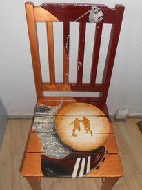 Acrylmalerei, Freche malerei, Bemalte stühle möbelmalerei, Design