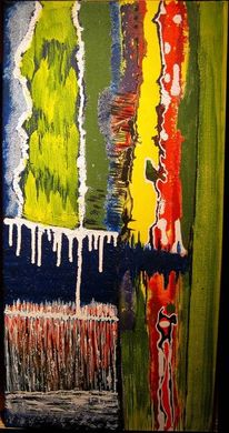 Kunsthandwerk, Blau, Fantasie, Acrylmalerei