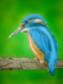 Eisvogel, Malerei