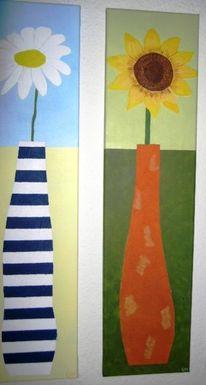 Malerei, Pflanzen, Margerite
