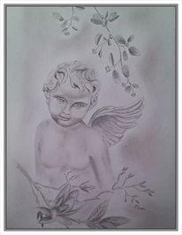 Skulptur, Figur, Engel, Flügel