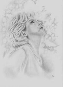 Nachdenklich, Portrait, Traum, Menschen