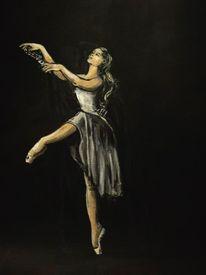 Ballett, Düster, Ballerina, Dunkel