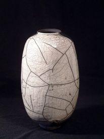 Gefäß, Vase, Keramik, Raku