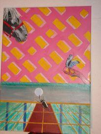 Surreal, Künstlich, Malerei, Pferdekopf