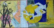 New fluxus, Modern artbrut, Mischtechnik, Artbrut