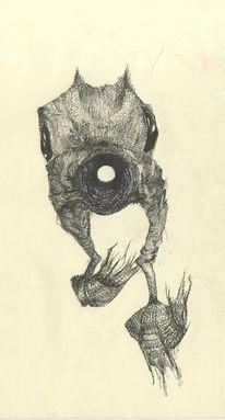 Weiß, Fantasie, Illustration, Schwarz weiss zeichnung