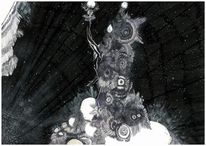 Himmel, Illustration, Charakterdesign, Alien