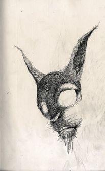 Illustration, Zeichnung, Schwarz weiss zeichnung, Märchen