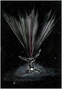Licht, Nacht, Himmel, Illustration