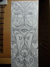 Surreal, Zeichnung, Schwarz weiß, Bleistiftzeichnung