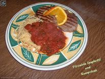 Spaghetti, Steak, Essen, Rind