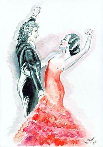 Mann, Flamenco, Frau, Tanz