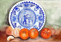 Mandarine, Aquarellmalerei, Orange, Obst