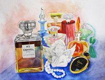 Duft, Flasche, Stillleben, Parfüm