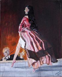 Ölmalerei, Frau, Tanz, Ballerina