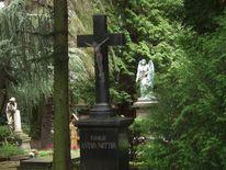 Friedhof, Kreuz, Trauer, Digitale kunst