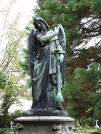 Friedhof, Skulptur, Tod, Schmerz