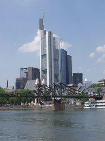 Frankfurt am main, Bankenviertel, Eiserner steg, Fotografie