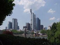 Bankenviertel, Skyline, Brücke, Eiserner steg
