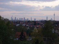 Baum, Stadtteil, Skyline, Frankfurt am main