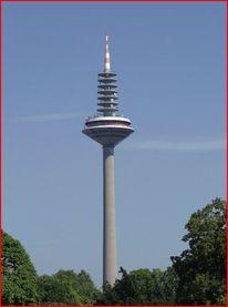 Europaturm, Palmen, Spargel, Frankfurt am main