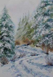 Baum, Wald, Winter, Schnee