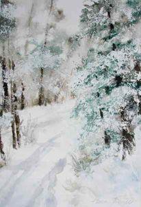 Winter, Schnee, Winterlandschaft, Wald