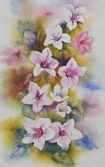 Blumen, Aquarellmalerei, Aquarell,