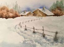 Schnee, Winterlandschaft, Baselbiet, Winter