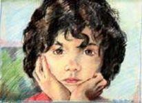 Buntstiftzeichnung, Portrait, Zeichnungen, Mädchen