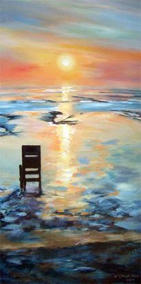 Malerei, Abendstimmung, Ausstellung bis 12, Wattenmeer