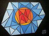 Pinsel, Sonne, Acrylmalerei, Kristall