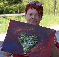 Herz, Sehen, Malerei, Abstrakt