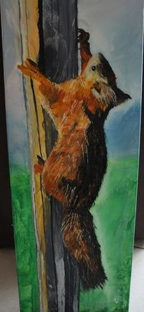 Malerei, Eichhörnchen,