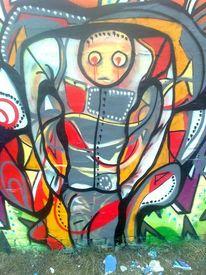 Figur, Streetart, Malerei