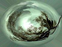 Pflanzen, Lebenskreis, Perückenstrauch, Digitale kunst