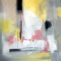 Rosa grau gelb, Malerei