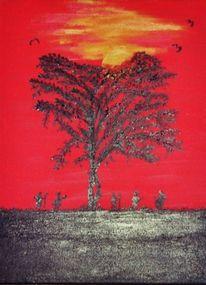 Afrika, Vogel, Baum, Leben