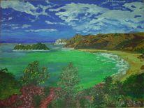Strand, Anaura bay, Bucht, Malerei