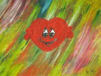 Herz, Malerei, Abstrakt