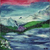 Berge, Tegernsee, See, Malerei