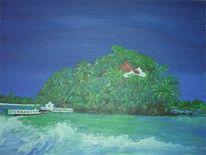 Küste, Insel, Strand, Sri lanka